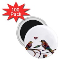 Birds Abstract Exotic Colorful 1 75  Magnets (100 Pack)