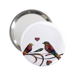 Birds Abstract Exotic Colorful 2.25  Handbag Mirrors