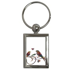 Birds Abstract Exotic Colorful Key Chains (rectangle)