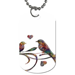 Birds Abstract Exotic Colorful Dog Tag (one Side)