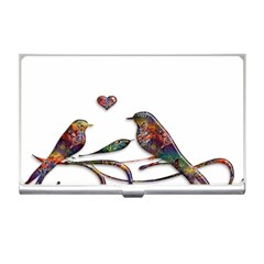 Birds Abstract Exotic Colorful Business Card Holders