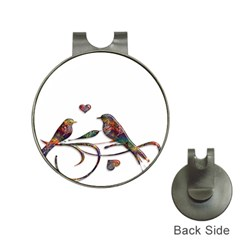 Birds Abstract Exotic Colorful Hat Clips With Golf Markers