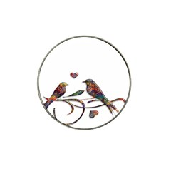 Birds Abstract Exotic Colorful Hat Clip Ball Marker (4 pack)