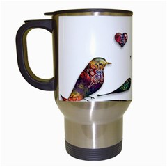 Birds Abstract Exotic Colorful Travel Mugs (white)