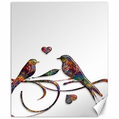 Birds Abstract Exotic Colorful Canvas 8  x 10