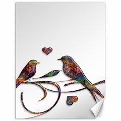 Birds Abstract Exotic Colorful Canvas 12  X 16
