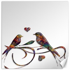 Birds Abstract Exotic Colorful Canvas 16  X 16