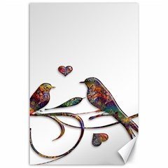 Birds Abstract Exotic Colorful Canvas 24  x 36