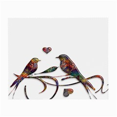 Birds Abstract Exotic Colorful Small Glasses Cloth (2-Side)