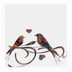 Birds Abstract Exotic Colorful Medium Glasses Cloth (2 Side)