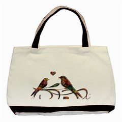 Birds Abstract Exotic Colorful Basic Tote Bag (two Sides)