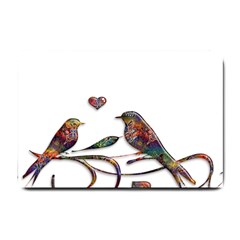 Birds Abstract Exotic Colorful Small Doormat