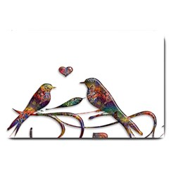 Birds Abstract Exotic Colorful Large Doormat
