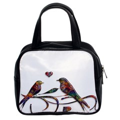 Birds Abstract Exotic Colorful Classic Handbags (2 Sides)