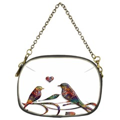 Birds Abstract Exotic Colorful Chain Purses (two Sides)