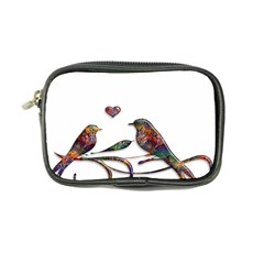 Birds Abstract Exotic Colorful Coin Purse