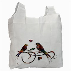 Birds Abstract Exotic Colorful Recycle Bag (Two Side)
