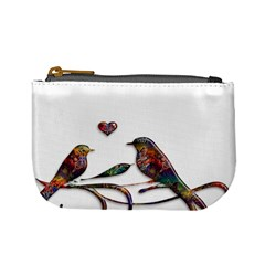 Birds Abstract Exotic Colorful Mini Coin Purses