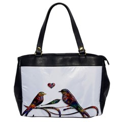 Birds Abstract Exotic Colorful Office Handbags