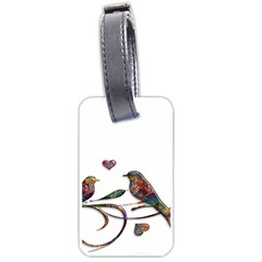 Birds Abstract Exotic Colorful Luggage Tags (two Sides)