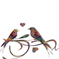 Birds Abstract Exotic Colorful Magic Photo Cubes