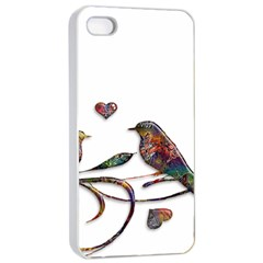 Birds Abstract Exotic Colorful Apple iPhone 4/4s Seamless Case (White)