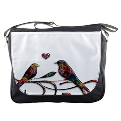 Birds Abstract Exotic Colorful Messenger Bags