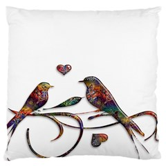 Birds Abstract Exotic Colorful Large Cushion Case (Two Sides)