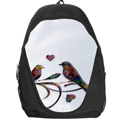Birds Abstract Exotic Colorful Backpack Bag