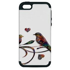 Birds Abstract Exotic Colorful Apple iPhone 5 Hardshell Case (PC+Silicone)