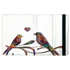 Birds Abstract Exotic Colorful Apple Ipad 3/4 Flip Case
