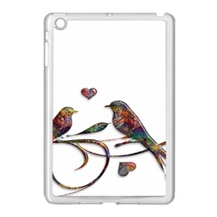 Birds Abstract Exotic Colorful Apple iPad Mini Case (White)