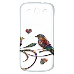 Birds Abstract Exotic Colorful Samsung Galaxy S3 S Iii Classic Hardshell Back Case