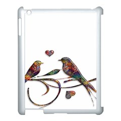 Birds Abstract Exotic Colorful Apple Ipad 3/4 Case (white)