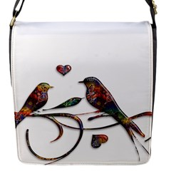 Birds Abstract Exotic Colorful Flap Messenger Bag (s)