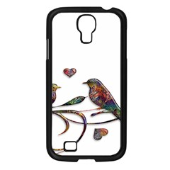 Birds Abstract Exotic Colorful Samsung Galaxy S4 I9500/ I9505 Case (black)