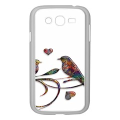 Birds Abstract Exotic Colorful Samsung Galaxy Grand Duos I9082 Case (white)