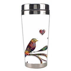 Birds Abstract Exotic Colorful Stainless Steel Travel Tumblers