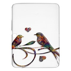 Birds Abstract Exotic Colorful Samsung Galaxy Tab 3 (10 1 ) P5200 Hardshell Case