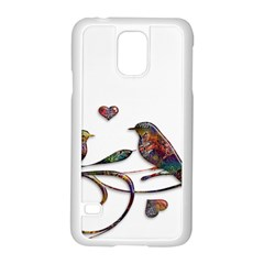 Birds Abstract Exotic Colorful Samsung Galaxy S5 Case (white)