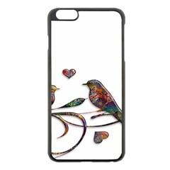 Birds Abstract Exotic Colorful Apple Iphone 6 Plus/6s Plus Black Enamel Case