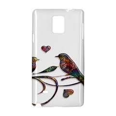 Birds Abstract Exotic Colorful Samsung Galaxy Note 4 Hardshell Case