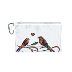 Birds Abstract Exotic Colorful Canvas Cosmetic Bag (s)