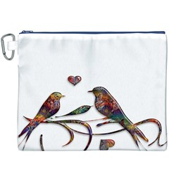 Birds Abstract Exotic Colorful Canvas Cosmetic Bag (XXXL)
