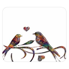 Birds Abstract Exotic Colorful Double Sided Flano Blanket (small)