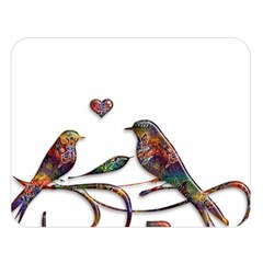Birds Abstract Exotic Colorful Double Sided Flano Blanket (large)