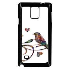 Birds Abstract Exotic Colorful Samsung Galaxy Note 4 Case (black)