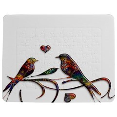 Birds Abstract Exotic Colorful Jigsaw Puzzle Photo Stand (Rectangular)