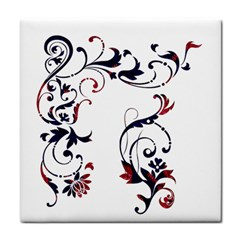 Scroll Border Swirls Abstract Tile Coasters