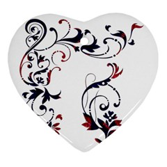 Scroll Border Swirls Abstract Ornament (heart)